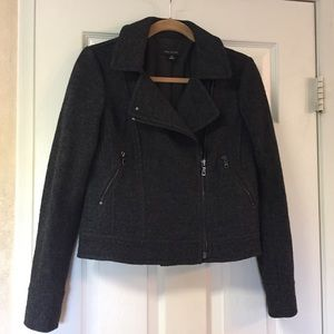 Ann Taylor Dark Gray Moto Jacket
